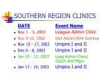 southern region clinics