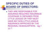 specific duties of board of directors4