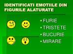 identificati emotiile din figurile alaturate