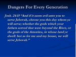 dangers for every generation2