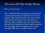 the loss of the godly home3