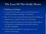 the loss of the godly home4