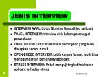 jenis interview