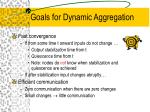 goals for dynamic aggregation
