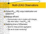 multi leag observations