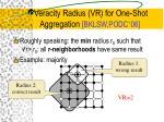 veracity radius vr for one shot aggregation bklsw podc 06
