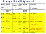 strategy plausibility scenario