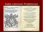 index librorium proibitorium