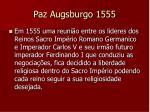 paz augsburgo 1555