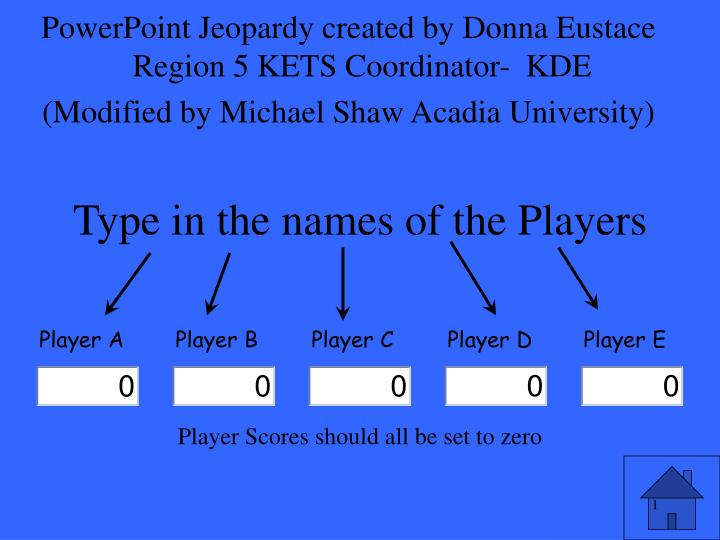 type in the names of the players n.