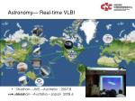 astronomy real time vlbi
