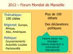 2012 forum mondial de marseille