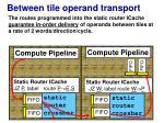 between tile operand transport