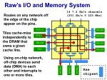 raw s i o and memory system