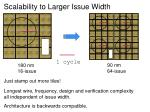 scalability to larger issue width