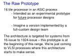 the raw prototype