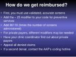 how do we get reimbursed