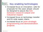 key enabling technologies1