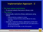 implementation approach 3