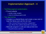 implementation approach 4