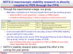 nstx u macroscopic stability research is directly coupled to iter through the itpa