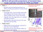 nstx u will provide projections of transient heat loads and halo currents for iter and fnsf
