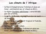 les climats de l afrique
