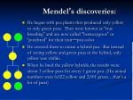 mendel s discoveries