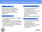 increase my employees awareness and engagement
