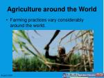 agriculture around the world
