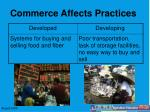 commerce affects practices