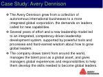 case study avery dennison
