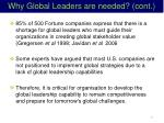 why global leaders are needed cont