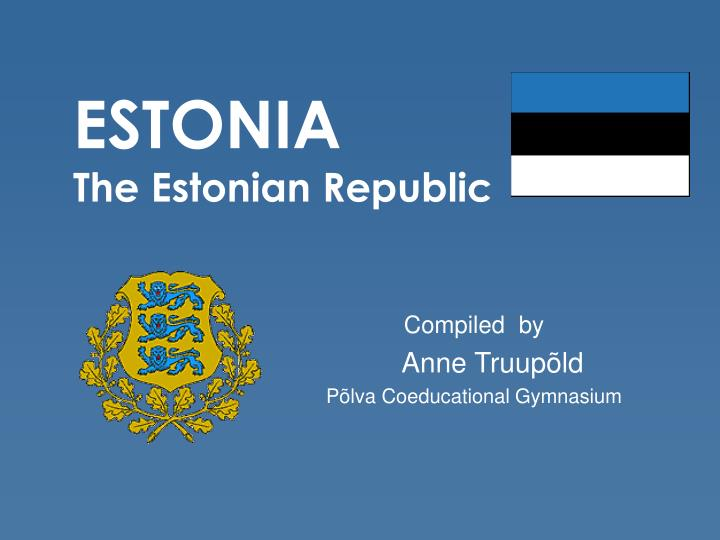 estonia the estonian republic n.
