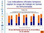 los indicadores oficiales tampoco captan la carga de trabajo en tareas no remuneradas