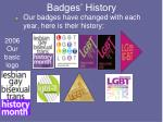 badges history