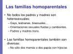las familias homoparentales
