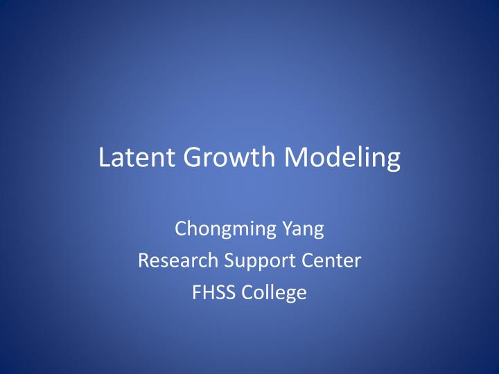 latent growth modeling n.