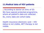 11 medical data of hiv patients