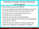 narodowy korpus j zyka polskiego www nkjp pl