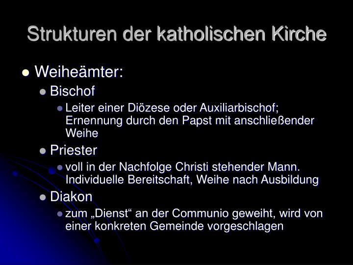 Strukturen der katholischen Kirche