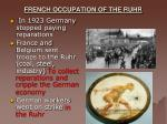 french occupation of the ruhr