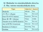 q shukudai wa muzukashikatta desu ka a hai totemo muzukashikatta desu1