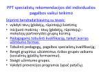 ppt specialist rekomendacijos d l individualios pagalbos vaikui teikimo1