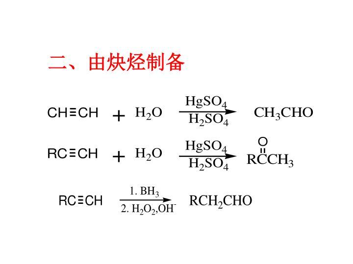 二、由炔烃制备