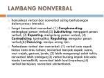 lambang nonverbal
