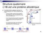 structure quaternaire l hb est une prot ine allost rique