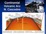 continental volcanic arc n cascades
