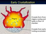 early crystallization