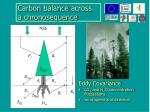 carbon balance across a chronosequence